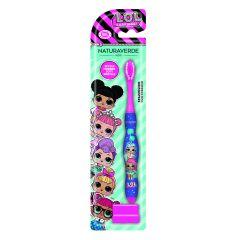 Naturaverde DISNEY Toothbrush For Children L.O.L. SURPRISE! Детска четка за зъби с капаче
