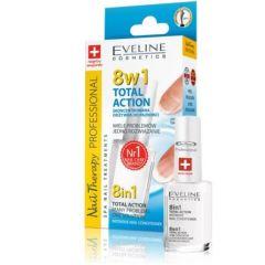 Eveline Cosmetics Total Action Балсан за нокти 8в1 12 мл