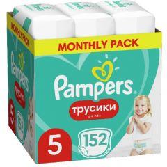 Пелени-гащички Pampers Pants Monthly Pack Размер 5 S 152 бр Procter & Gamble