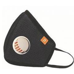 Pockester Защитна маска за деца с клапан черна