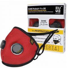 Eume Protect+ Pro 95 Защитна антибактериална маска за деца с 2 клапана червена