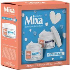 Mixa Hyalurogel Rich Интензивно хидратиращ дневен крем 50 мл + Mixa Hyalurogel Хидратиращ нощен крем за лице 50 мл Комплект