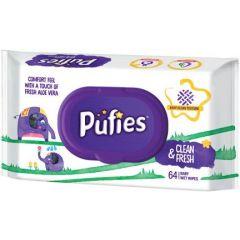 Pufies Clean & Fresh Бебешки мокри кърпички с алое вера 64 бр