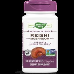 Nature's Way Reishi Рейши мощен адаптоген и имуностимулатор 190 мг х100 капсули