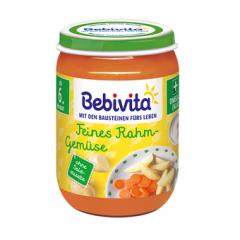 Bebivita пюре зеленчуци със сметана без глутен 6М+ 190 гр