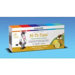 N-Ti-Tuss При възпалено гърло С вкус на мед и лимон х20 таблетки за смучене Ecopharm