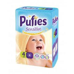 Pufies Sensitive Бебешки пелени SP №4 Макси 7-14 кг х18 бр