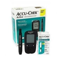 Accu-Chek Active Глюкомер за кръвна захар + Accu-Chek Active Тест-ленти за кръвна захар 10 бр Roche Diagnostics Комплект