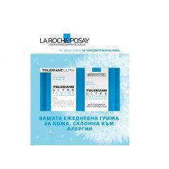 La Roche-Posay Toleriane Ultra Флуид за нормална към комбинирана, чувствителна и склонна към алергии кожа 40 мл + La Roche-Posay Toleriane Ultra Крем за околоочен контур 20 мл Комплект