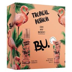 B.U. Tropical Passion Спрей-мист за тяло с тропически аромат 200 мл + B.U. Tropical Passion Лосион за тяло с тропически аромат 50 мл Комплект