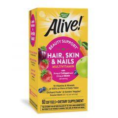 Nature's Way Alive Hair Skin Nails Алайв мултивитамини за коса, кожа и нокти х60 софтгел капсули