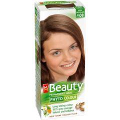 MM Beauty Phyto Colour Трайна фито боя за коса, М08 Млечен шоколад
