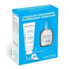 Bioderma Hydrabio Гел-крем за нормална до смесена чувствителна кожа 40 мл + Bioderma Hydrabio Мицеларен разтвор за дехидратирана кожа 100 мл Комплект