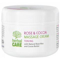 Българска роза Herbal Care масажен крем тонизиращ роза и какао 240 мл