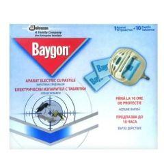 Baygon Електрически изпарител против комари с 10 таблетки  SC Johnson