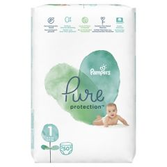 Пелени Pampers Pure Protection Размер 1 New born 50 бр
