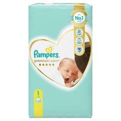 Пелени Pampers Premium Care Размер 1 New born 52 бр