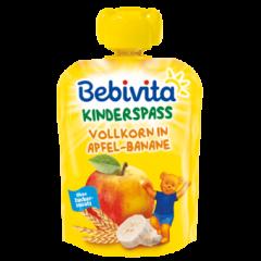 Bebivita забавна плодова закуска пълнозърнести култури с ябълка и банан 12М+ 90 гр