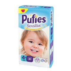 Pufies Sensitive Пелени за бебета №4+ Maxi+ 9-16 кг х50 бр