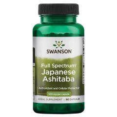 Swanson Full Spectrum Japanese Ashitaba Пълен спектър Японска Ашитаба 500 мг х 60 капсули