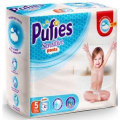 Пелени - гащички Pufies Sensitive Pants 5 Junior 42 бр