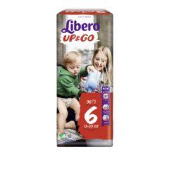 Пелените - гащички Libero Up&Go Размер 6 Jumbo 36 бр