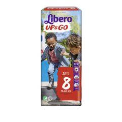 Пелените - гащички Libero Up&Go Размер 8 Jumbo 28 бр