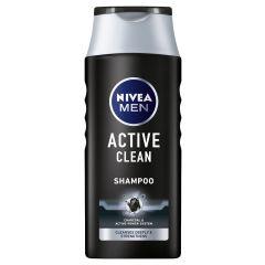 Nivea Men Active Clean Шампоан за мъже с активен въглен 400 мл