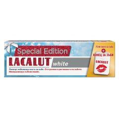 Lacalut White Паста за зъби избелваща 75 мл + Конец за зъби Комплект
