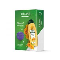Aroma Natural Невен Шампоан за суха коса 500 мл + Арома Ревитализиращ Крем за лице с витамини А+Е 75 мл Кутия Комплект