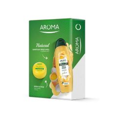 Aroma Natural Шампоан Яйце и Мед 500 мл + Арома Лимон Защитаващ крем за лице 75 мл Кутия Комплект