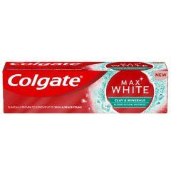 Colgate Max White Clay & Minerals Избелваща паста за зъби с глина и минерали 75 мл