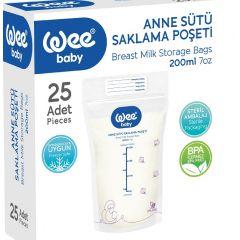 WEE BABY Пликове за съхранение на мляко х25 бр