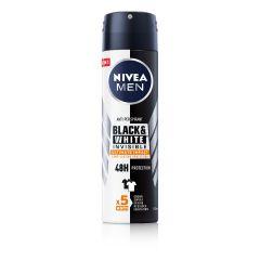 NiveaMen Black & White Invisible Ultimate Impact Дезодорант спрей против изпотяване за мъже 150 мл