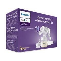 Philips Avent Ръчна помпа за кърма Natural Motion + Avent Бутилка с биберонNatural 125 мл Комплект