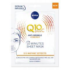 Nivea Q10 Plus С Биоразградима лист маска за лице против бръчки 1 бр