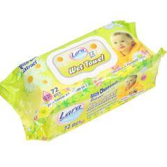 Lara Wet Towel Бебешки мокри кърпички с екстракт от лайка x72 бр