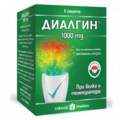 Диалгин 1000 мг х6 сашета Chemax Pharma