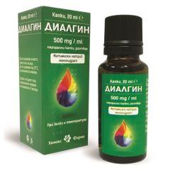 Диалгин капки при болки и температура 500 мг x20 мл Chemax Pharma