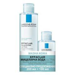 La Roche-Posay Effaclar Ultra Мицеларна вода 200 мл + La Roche-Posay Effaclar Ultra Мицеларна вода 100 мл Комплект