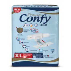 Confy Premium Adult Пелени за възрастни с инконтиненция 5 капки Размер XL х 10 бр