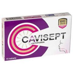 Cavisept За лигавицата на устата и фаринкса х 15 таблетки за смучене BIOshield