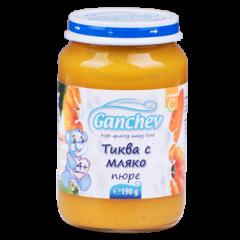Ganchev Пюре тиква с мляко 4М+ 190 гр