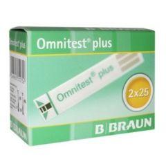 Omnitest Plus Тест-ленти за кръвна захар 50 бр B Braun