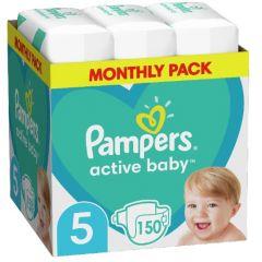 Пелени Pampers Active Baby Размер 5 S 150 бр Procter & Gamble