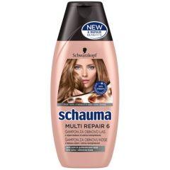 Schauma Multi Repair 6 Възстановяващ шампоан за изтощена коса 400 мл