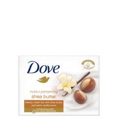 Dove Purely Pampering Подхранващ крем-сапун за ръце, лице и тяло с масло от ший и ванилия 100 гр