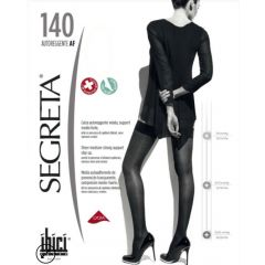 Segreta Autoreggente AF Самозадържащи се компресивни дамски чорапи Черни Размер M 140 DEN Ibici