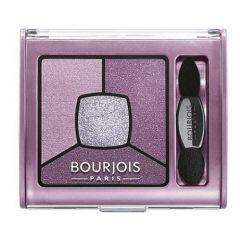 Bourjois Smoky Stories Quad Eyeshadow Palette Дълготрайни опушени сенки за очи в четири цвята N07 In Mauve Again