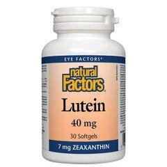 Natural Factors Lutein Лутеин за подобряване на зрението 40 мг х 30 капсули